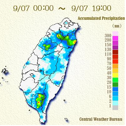 todays rainfall